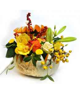 Compoziție florală de Halloween 03