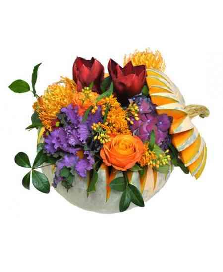 Compoziție florală de Halloween 07