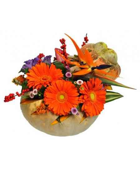 Compoziție florală de Halloween 08