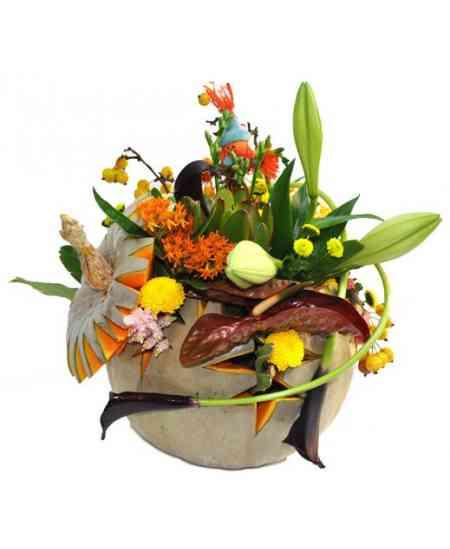 Compoziție florală de Halloween 09