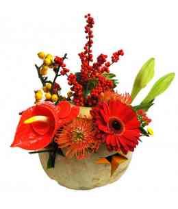 Compoziție florală de Halloween 10
