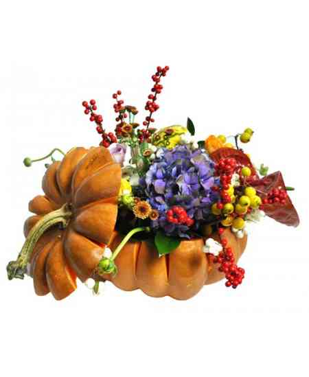 Compoziție florală de Halloween 11