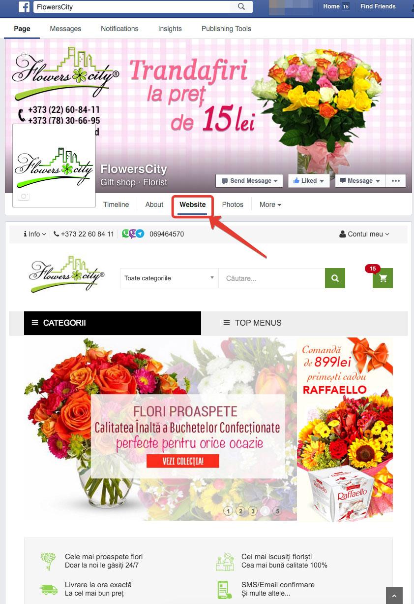 Comanda de flori direct din pagina ta de Facebook
